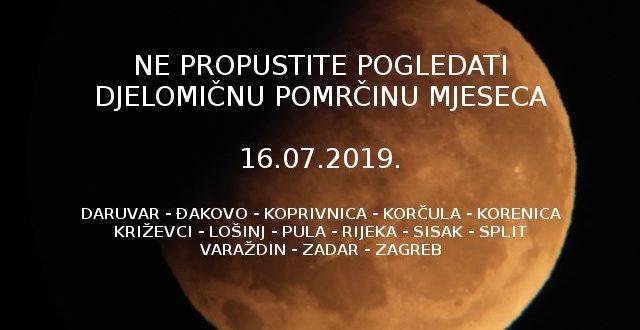 Djelomična pomrčina mjeseca promatrat će se i iz Đakova