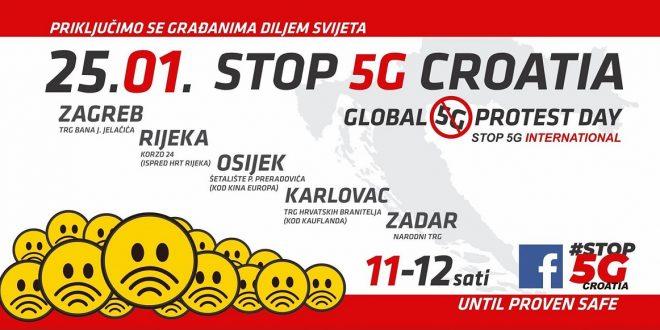 Prosvjed građana protiv uvođenja 5G tehnologije