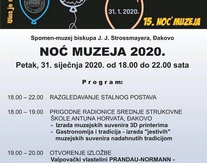 """Noć muzeja"" u Spomen-muzeju biskupa J. J. Strossmayera"
