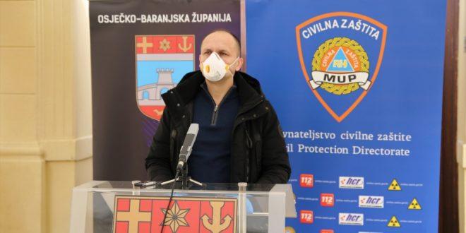 """""""KBC Osijek nije žarište zaraze, nema oboljelih liječnika, ukupno oboljelih u OBŽ trenutno je 32"""""""