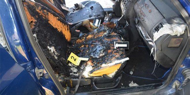 Zapalio se automobil