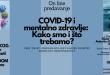 """On line predavanje na temu: """"COVID-19 i mentalno zdravlje: Kako smo i što trebamo"""""""