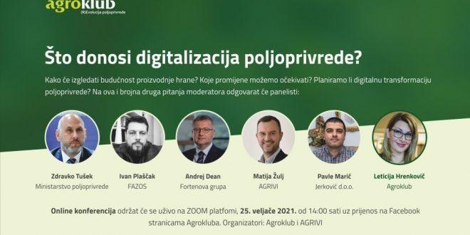 Online konferencija: Što donosi digitalizacija poljoprivrede?
