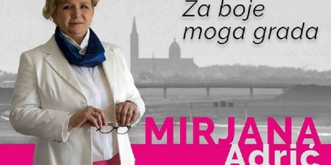"""Mirjana Adrić predstavila kandidaturu za gradonačelnicu Grada Đakova – ,,ZA boje našeg grada"""""""